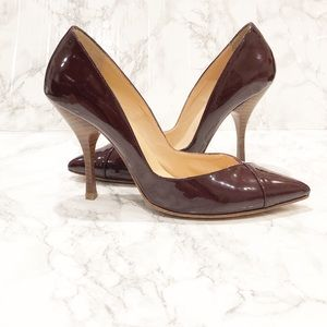 Emerson Fry V patent leather Heel burgundy/oxblood